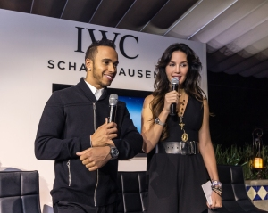 HANDOUT - LEWIS HAMILTON, BRAND AMBASSADOR OF IWC SCHAFFHAUSEN, CELEBRATES THE RETURN OF FORMULA 1 TO MEXICO. The three-time champion from the MERCEDES AMG PETRONAS Formula One Team and ambassador of IWC Schaffhausen shared a night of celebration on 28th of October 2015 along with exclusive celebrity guests at the well-known restaurant Loma Linda in Mexico City. (PHOTOPRESS/IWC)